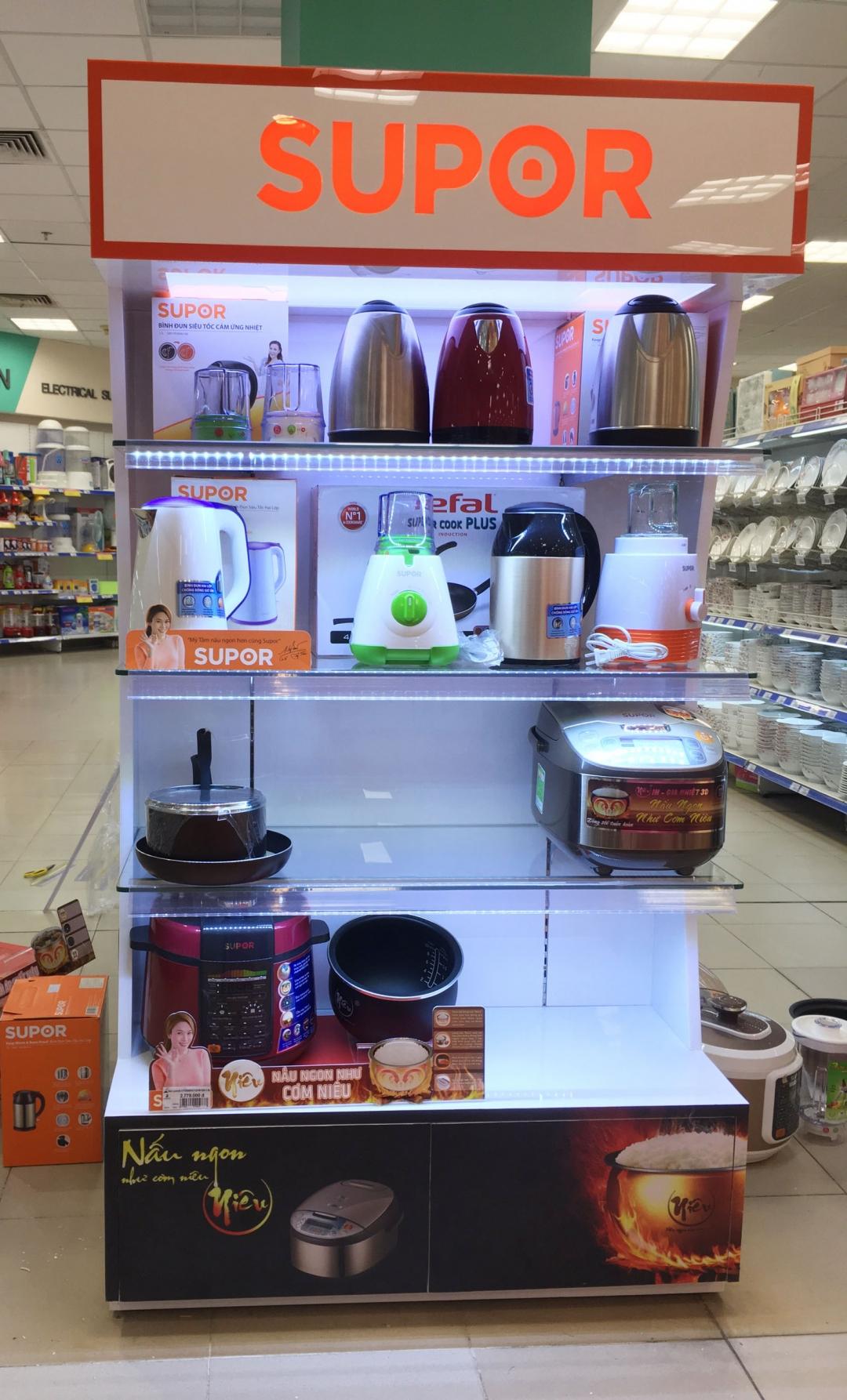 Thiết kế thi công nội thất siêu thị