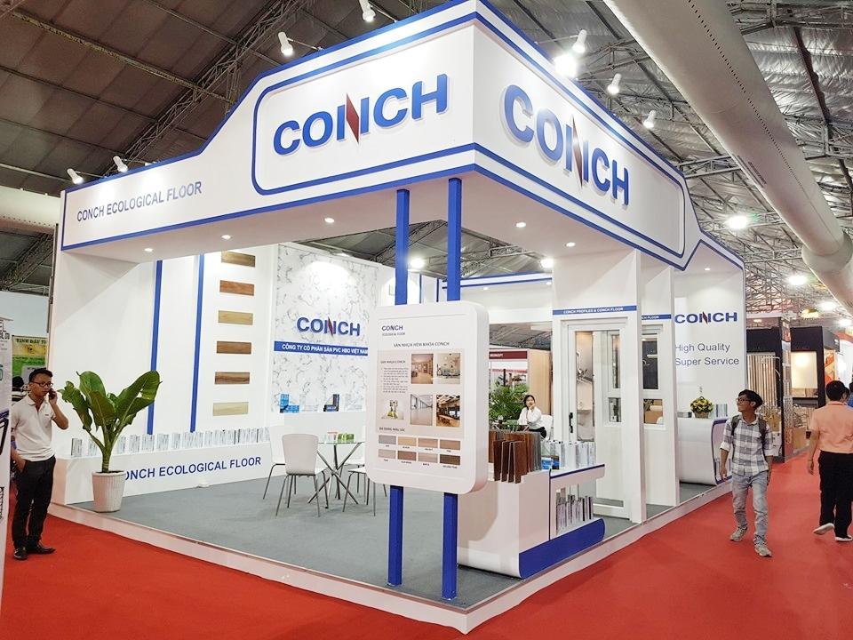 Gian hàng CONCH - thiết kế và thi công bởi MT-Production