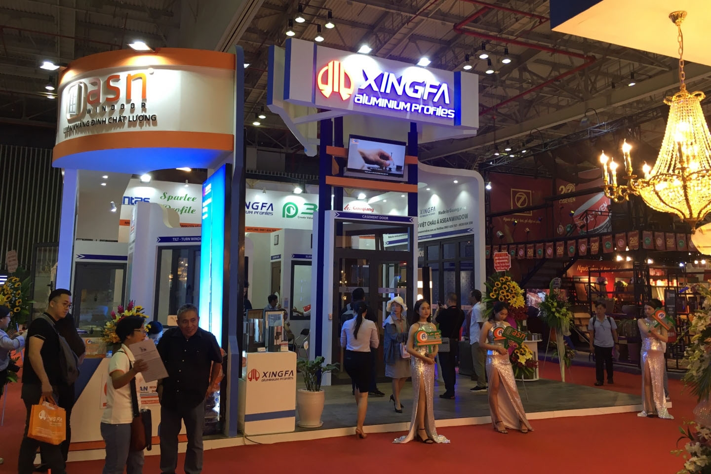 XINGFA booth - the annual participating unit at VietBuild, designing and constructing the booth by MT-Production
