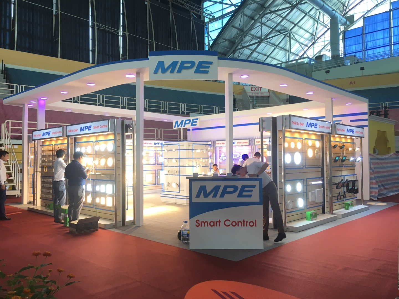 Gian hàng MPE - thiết kế và thi công bởi MT-Production