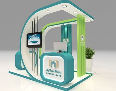 3D Exhibition Design Template With Small Area