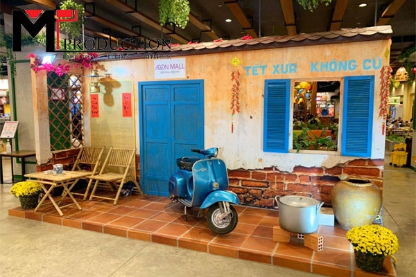 Thiết kế Trang Trí Showroom, Cửa Hàng dịp Tết